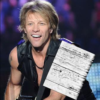 Bon Jovi with Secret Letter