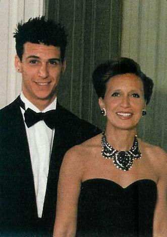 Nick with mother Daniell Steele