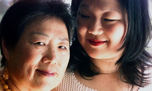 Margaret Cho with Mom (left)