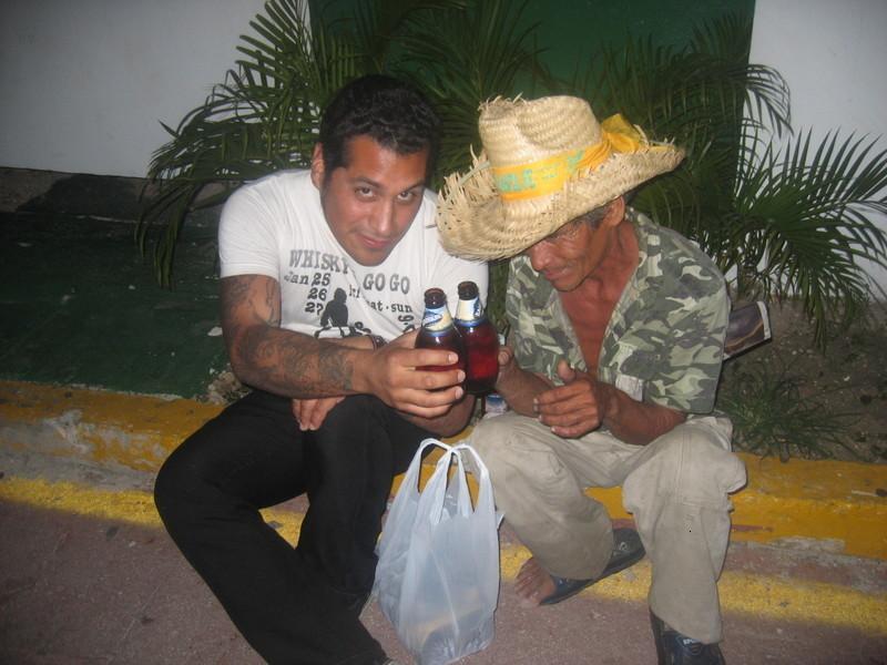 Poncho with friend